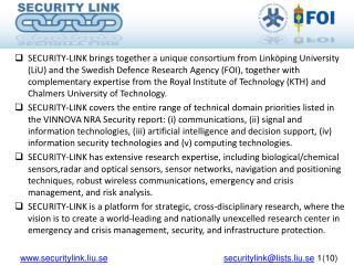 securitylink.liu.se securitylink@lists.liu.se  1(10)