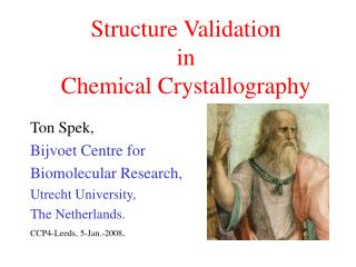 Structure Validation in Chemical Crystallography