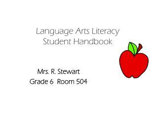 Language Arts Literacy Student Handbook