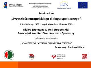 Dialog Spo?eczny w Unii Europejskiej
