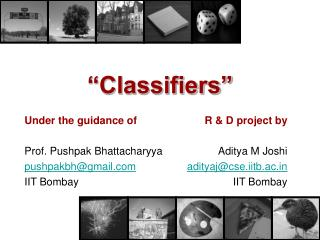 �Classifiers�
