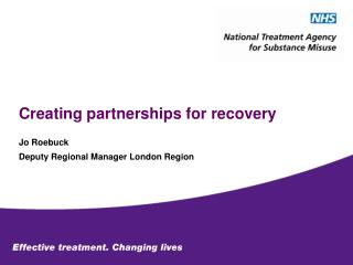 Creating partnerships for recovery