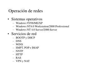 Operación de redes