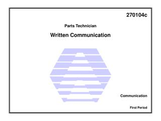 Figure 1 - Written communication.
