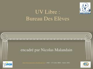 UV Libre : Bureau Des Elèves