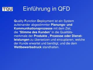 Einführung in QFD