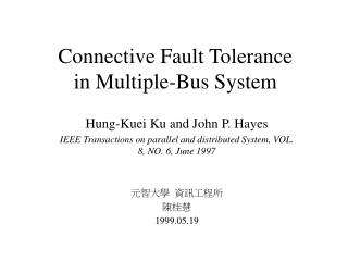 Connective Fault Tolerance in Multiple-Bus System