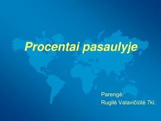 Procentai pasaulyje