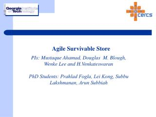Agile Survivable Store