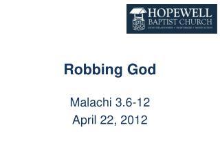 Robbing God