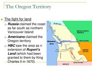 The Oregon Territory