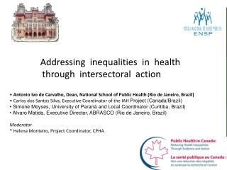 Addressing  inequalities  in  health  through  intersectoral  action