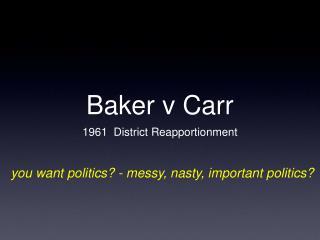 Baker v Carr