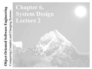 Chapter 6, System Design Lecture 2