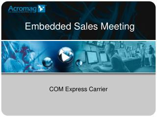 Embedded Sales Meeting
