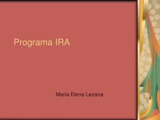 Programa IRA