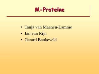 M-Proteïne