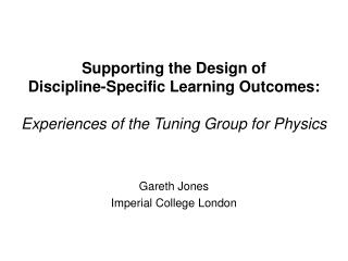 Gareth Jones Imperial College London