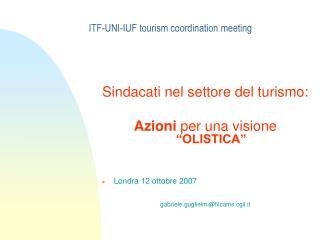 ITF-UNI-IUF tourism coordination meeting