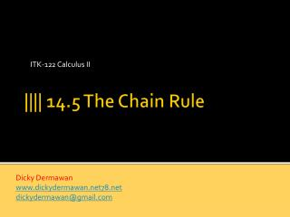 |||| 14.5 The Chain Rule