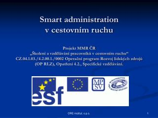 Smart administration  v cestovním ruchu