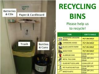 Please help us  to recycle!