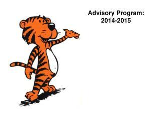 Advisory Program:  2014-2015