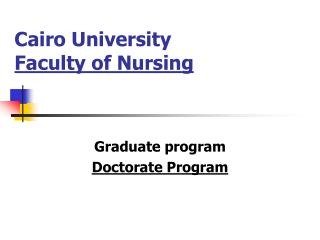 Cairo University Faculty of Nursing