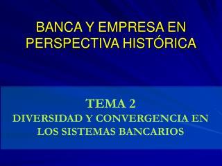 BANCA Y EMPRESA EN PERSPECTIVA HISTÓRICA
