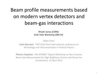 Beam profile measurements based on modern vertex detectors and beam-gas interactions