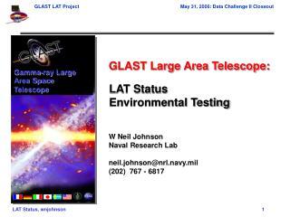 LAT Status Environmental Testing