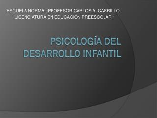 PSICOLOGÍA DEL DESARROLLO INFANTIL