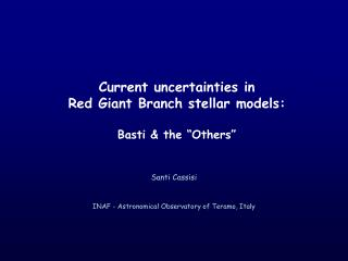 """Current uncertainties in  Red Giant Branch stellar models: Basti & the """"Others"""""""