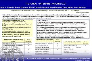 "TUTORIA:  ""INTERPRETACION E.C.G"""