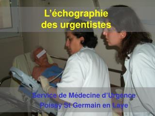 L'échographie des urgentistes