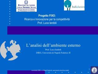 L'analisi dell'ambiente esterno Prof. Luca Iandoli DIEG, Università di Napoli Federico II