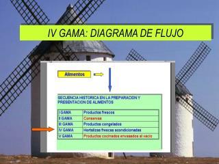IV GAMA:  DIAGRAMA DE FLUJO