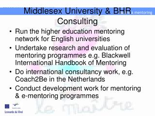 Middlesex University & BHR Consulting