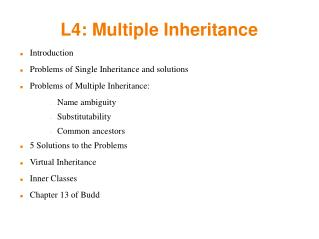 L4: Multiple Inheritance