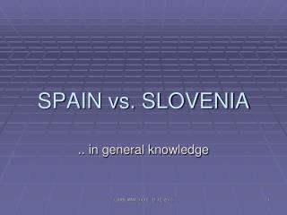 SPAIN vs. SLOVENIA