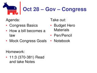Oct 28 �  Gov  � Congress
