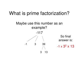 What is prime factorization?