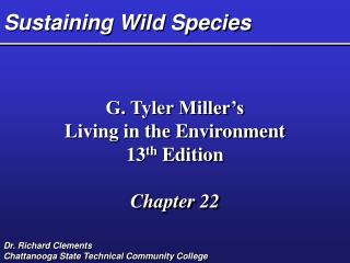 Sustaining Wild Species