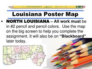 Louisiana Poster Map