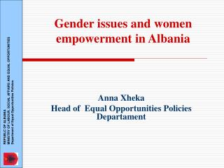 Gender issues and women empowerment in Albania