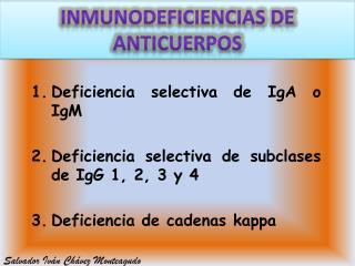 Inmunodeficiencias de anticuerpos