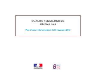 EGALITE FEMME/HOMME Chiffres clés Plan d'action interministériel du 30 novembre 2012