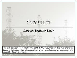 Study Results Drought Scenario Study