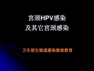 宫颈 HPV 感染 及其它宫颈感染