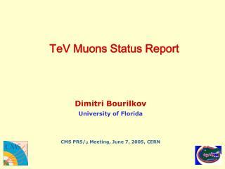 TeV Muons Status Report